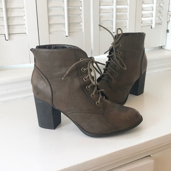 750b788cf2 Diba Shoes | Tracey Lace Up Heel Booties | Poshmark